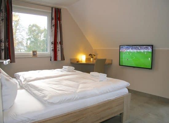 Ferienhaus Schlafzimmer TV Fleesensee